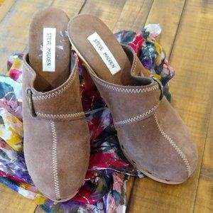 Steve Madden Suede Faris Clogs, Brown